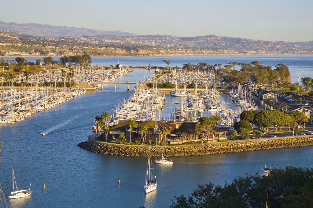 Dana Point Harbor Arial View From Hillside