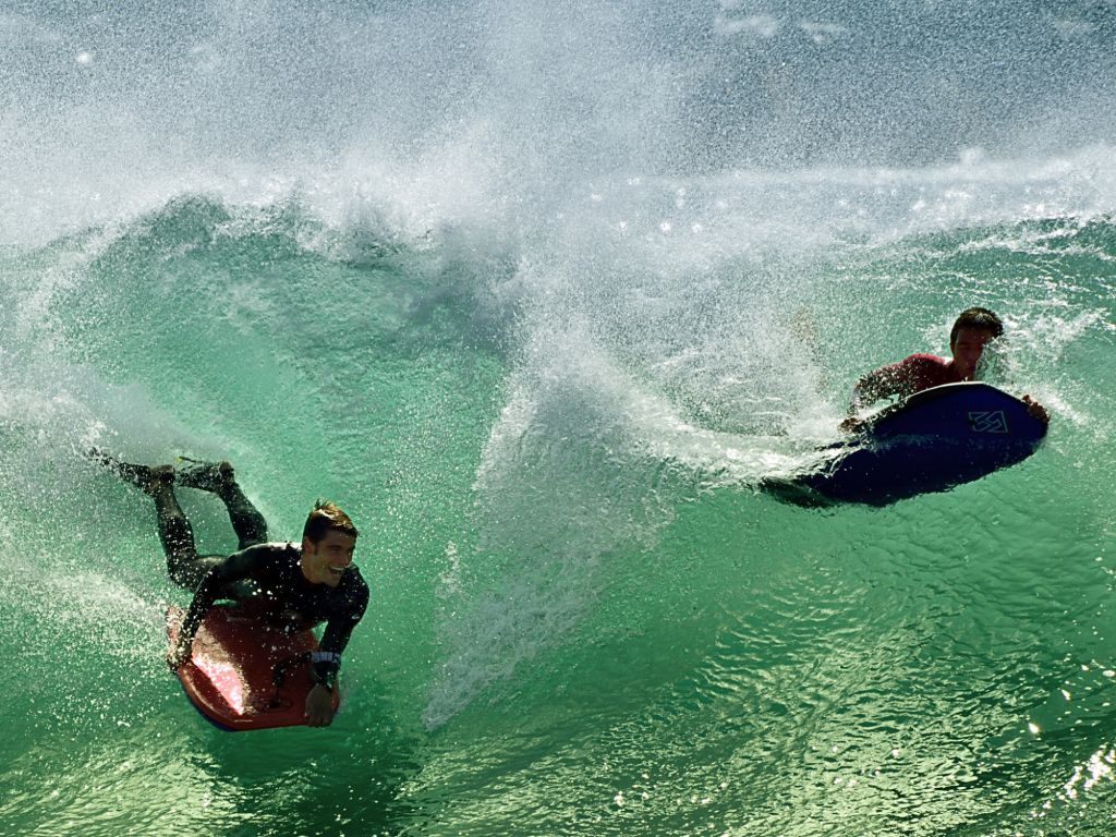 Surfers At The Wedge